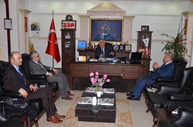 Rektör Harmandar'dan, Başkan Şaşmaz'a Ziyaret