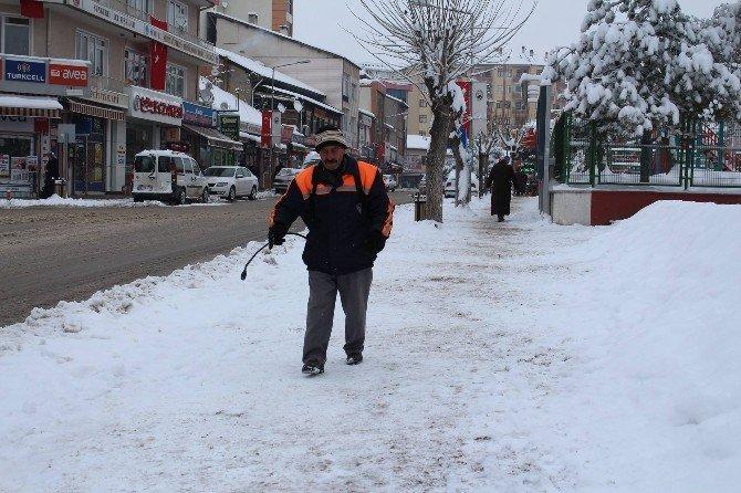 Sungurlu Belediyesi'nde Kar Mesaisi