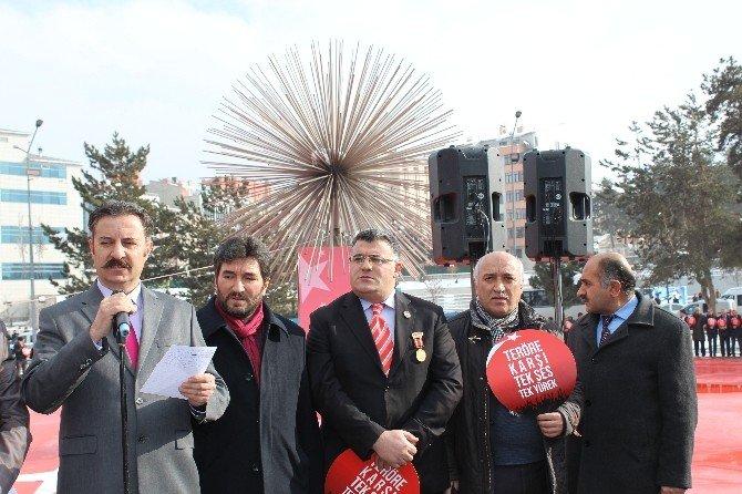 Erzurum'da STK'lardan Teröre Tepki