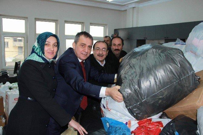 Yomra'dan Bayır Bucak Türkmenleri'ne Yardım
