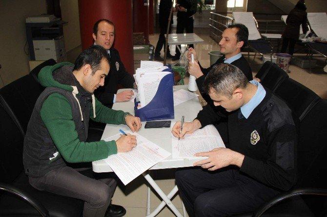 Yozgat Emniyet'ten Kızlay'a Kan Bağışı