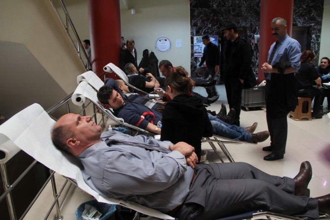Yozgat emniyetinden Kızılay'a kan bağışı