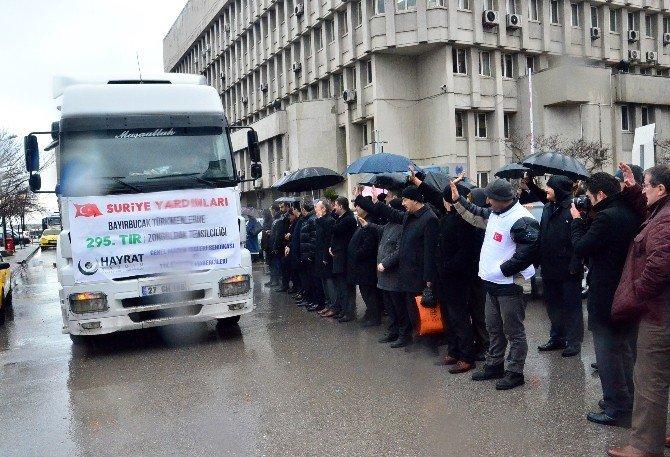 Bayırbucak Türkmenleri'ne 5 Tır Yardım