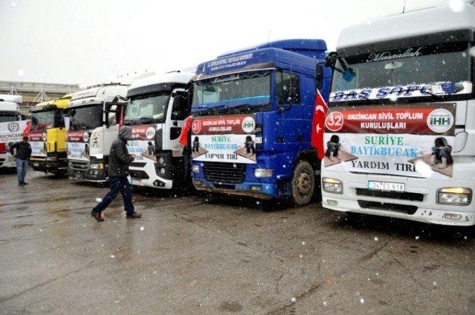 Vali Kahraman, Bayırbucak Türkmenlerine Gönderilen Yardım Tır'larını Uğurladı