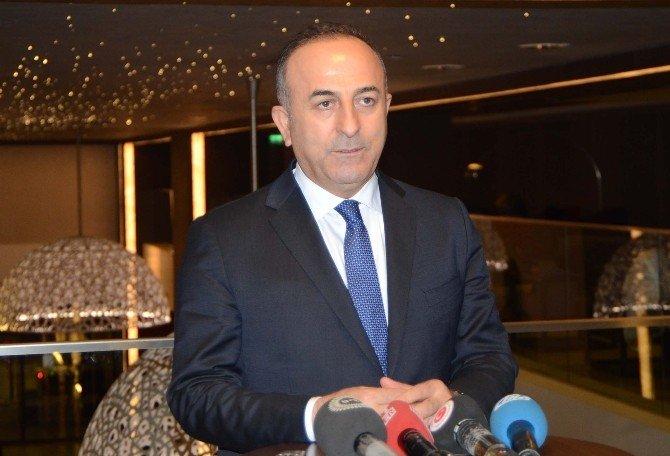 Çavuşoğlu, Rum Kesimi Ana Muhalefet Partisi Lideri Kiprianu İle Bir Araya Geldi