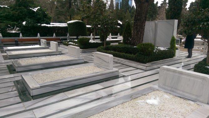 Mustafa Koç'un defin yerinde hazırlık çalışmaları