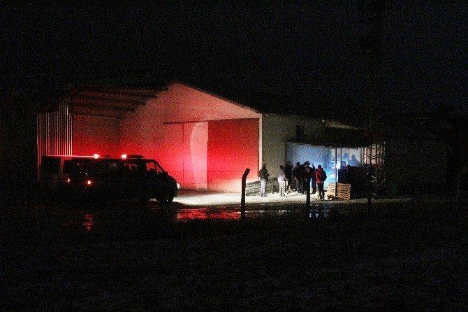 Çiftliğe Ait Elektrik Panosunda Çıkan Yangın Korkuttu