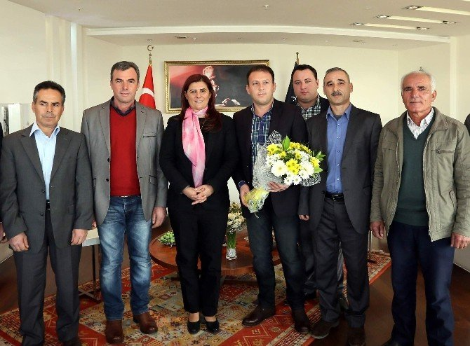 Karpuzlu CHP İlce Yönetiminden Çerçioğlu'na Ziyaret