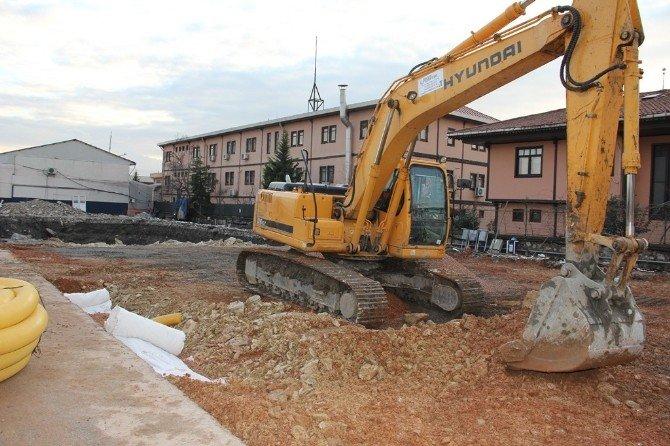 Kocaeli Büyükşehir Otobüs Garajına İdari Bina Yapılıyor