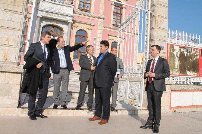 Makedonya Kültür Bakanı Müsteşarı Şehabi, Edirne Belediye Başkanı Gürkan'ı Ziyaret Etti