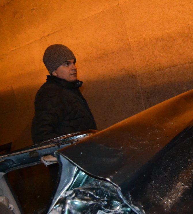 Havza İlçeEmniyet Müdürü, kazadan görüntü almak isteyen gazetecileri engelledi