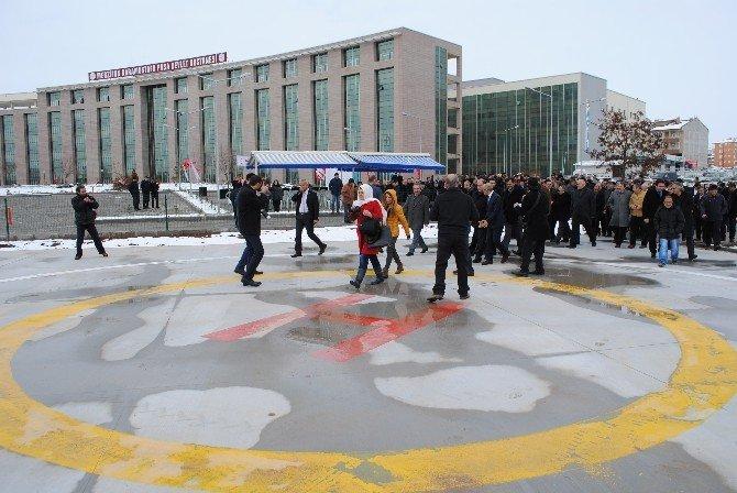 Merzifon Kara Mustafa Paşa Devlet Hastanesi'nde Heliport Açılışı