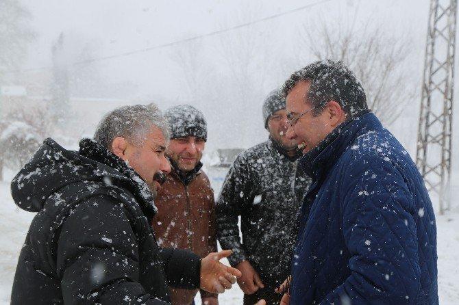 Atakum Belediyesi'nin Kar Temizleme Çalışması