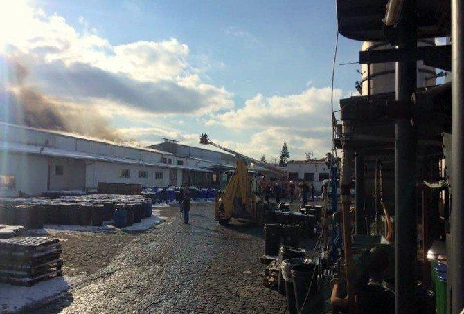 Çanakkale'de Fabrika Yangını