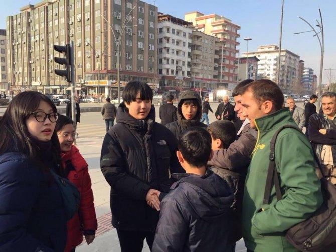 Batman sokaklarında Koreli turistler