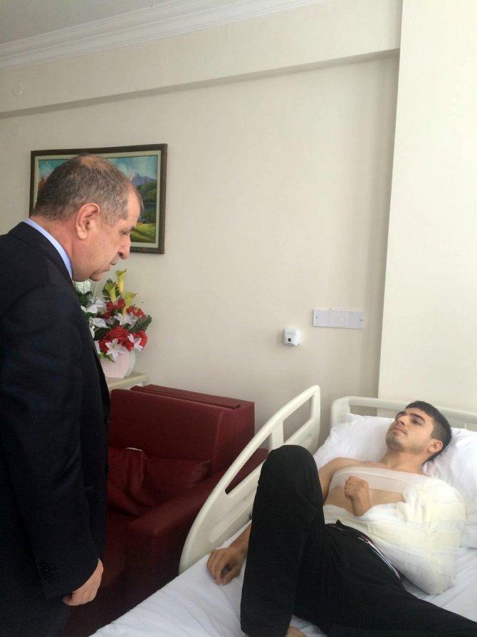 Ümit Özdağ, yaralı asker ve polisleri ziyaret etti