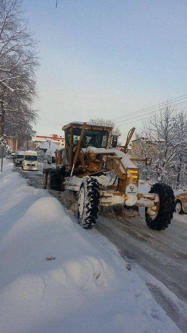 Tekkeköy Belediyesi'nin Kar Temizleme Çalışmaları Sürüyor