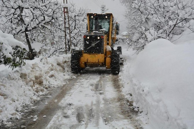 Trabzon'da Kar Yağışı Ulaşımı Olumsuz Etkiliyor