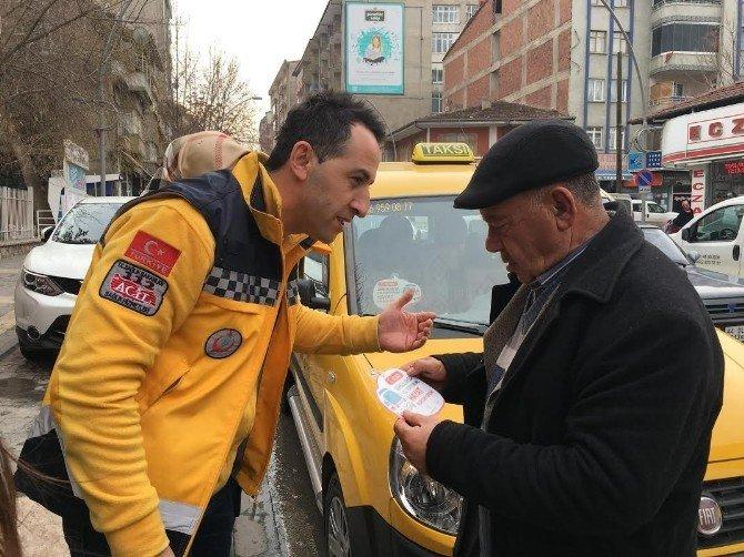 112 Acil Ekipleri, Taksici Ve Servis Şoförlerini Ziyaret Etti