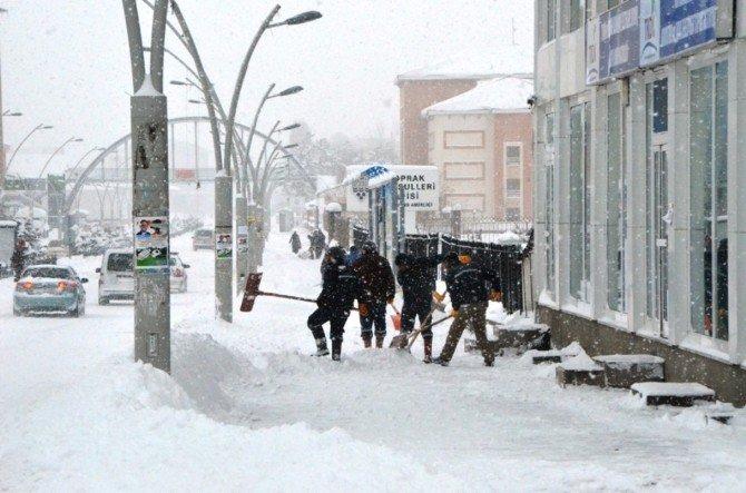 Ağrı Belediyesi'nin Kar Çalışması