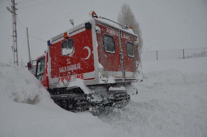 Bitlis'te 5 Saat Süren Hasta Kurtarma Operasyonu