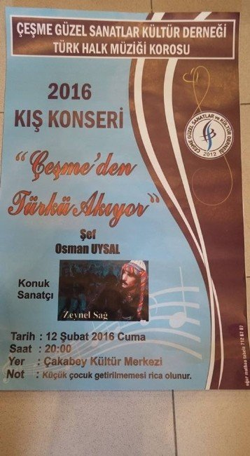 """""""Çeşme'den Türkü Akıyor"""" Konserine Davet Var"""