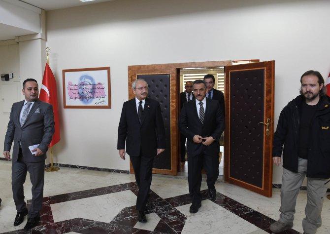 Kılıçdaroğlu, Tunceli Valiliği'ni ziyaret etti