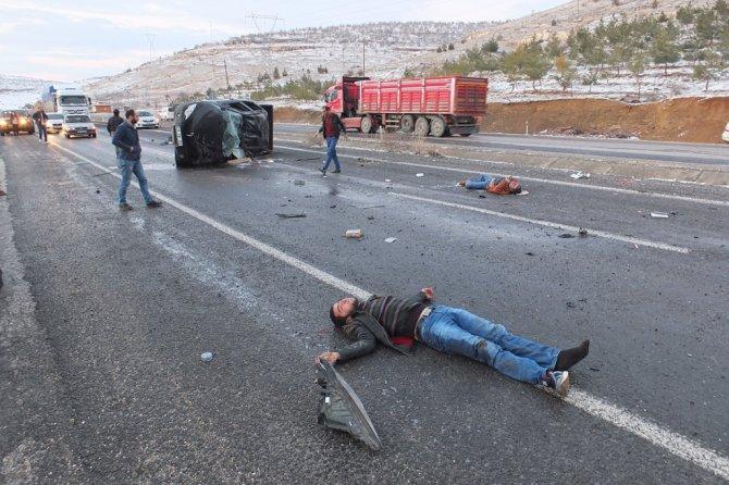 Gizli buzlanma kazaya neden oldu: 6'sı ağır 18 yaralı