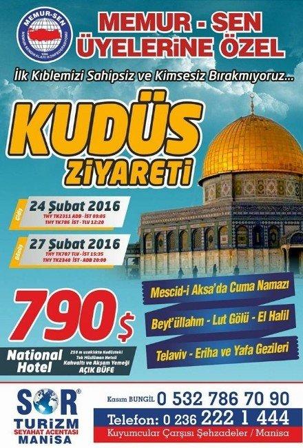 Memur-sen'den İnan Hatırasına Kudüs Ziyareti