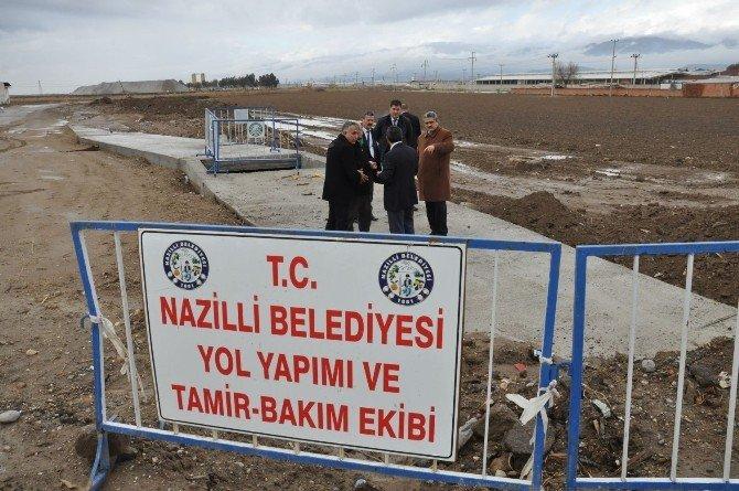 Nazilli'de Kurutma Kanalının Temizliği Ve Menfez Çalışması Tamamlandı