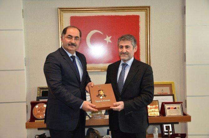 Milletvekillerinden NKÜ Rektörü Şimşek'e Ziyaret