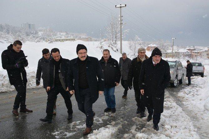 Başkan Genç, Kar Çalışmalarını Yerinde İnceledi
