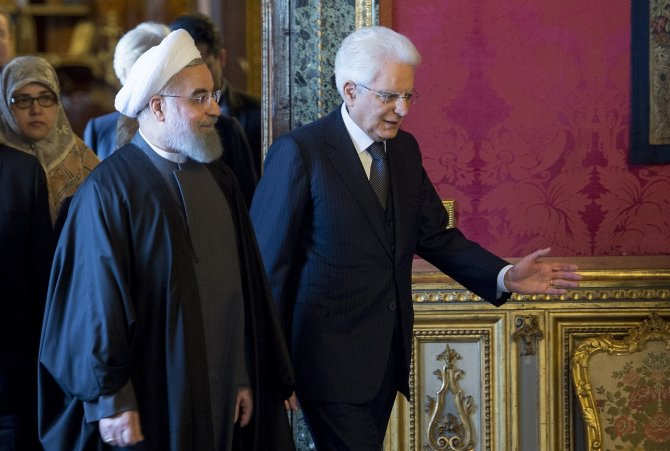 Ruhani, İtalya Cumhurbaşkanı tarafından törenle karşılandı