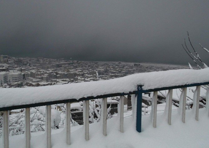 Trabzon'da Kar Kalınlığı 1 Metreye Yaklaştı
