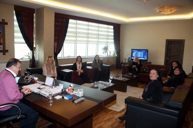 TOBB İl Kadın Girişimciler Kurulu Başkanlarından Parmaksız'a Ziyaret