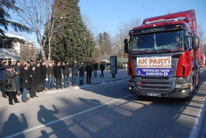 Tokat'tan Bayır Bucak Türkmenlerine 8 Tır Yardım