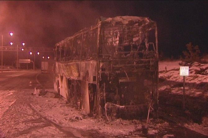 Ankara'da otobüs yangını