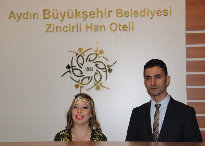 Aydın'daki tarihî Zincirli Han restore edilerek hizmete açıldı