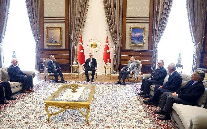 Türk Ocakları Heyeti Beştepe'de