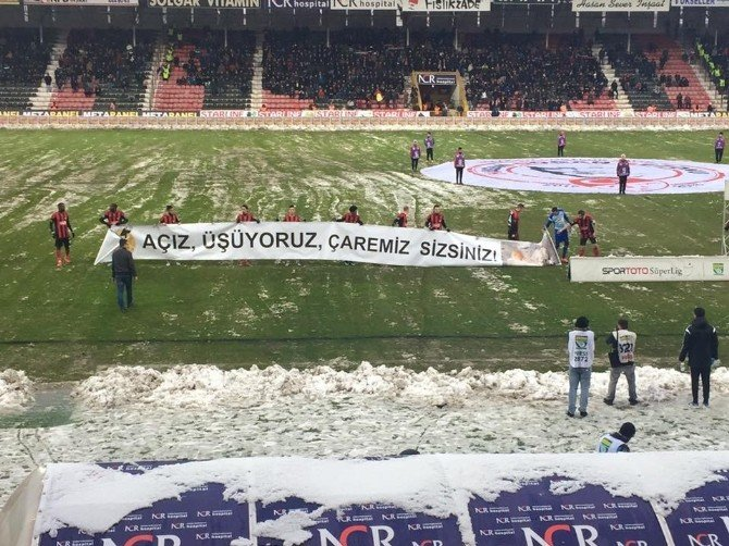 Gaziantepspor'a Pankart Teşekkürü