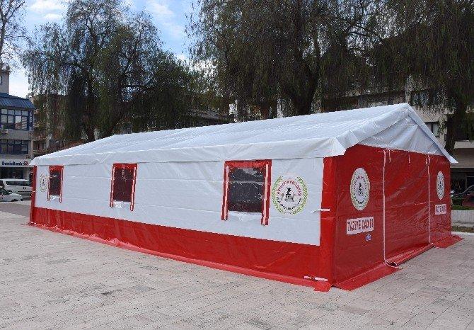 Başkan Kale'den İncirliova'ya Dört Adet Taziye Çadırı