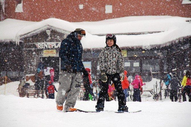 Yarı Yıl Tatili Kayak Merkezlerine Yaradı