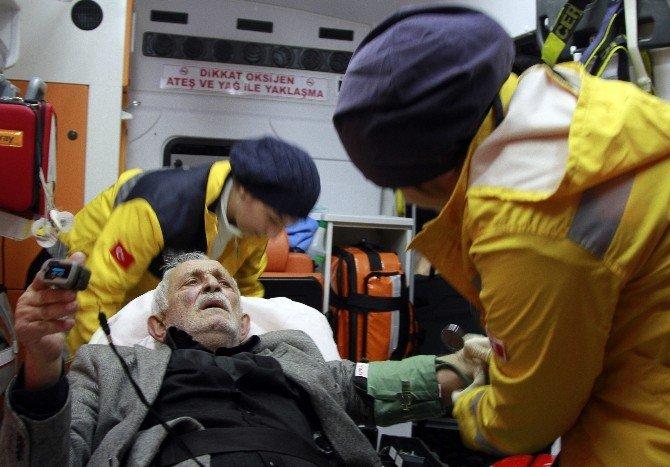 Karda Mahsur Kalan Kanser Hastası, 6 Saatlik Çalışma Sonucu Kurtarıldı