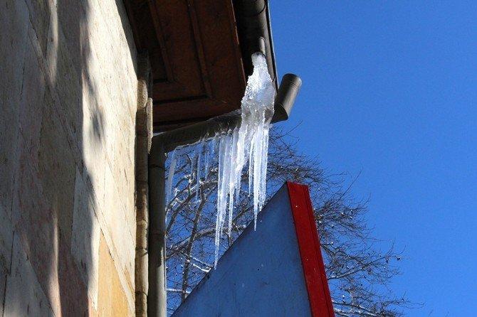 Ünye'de Buz Sarkıtları