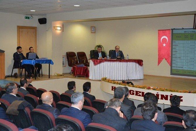 Siirt'te 2016 Yılının İlk Koordinasyon Kurulu Toplantısı Yapıldı