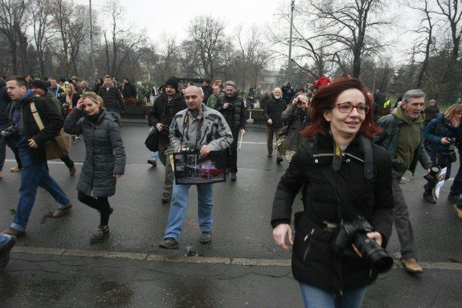 Sırbistan'da fotomuhabirleri telif hakları tasarısını protesto etti