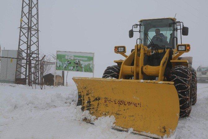 Sivas'ta 443 Köy Yolu Ulaşıma Kapandı