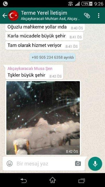 Büyükşehir'e Mesajlı Kar Teşekkürü
