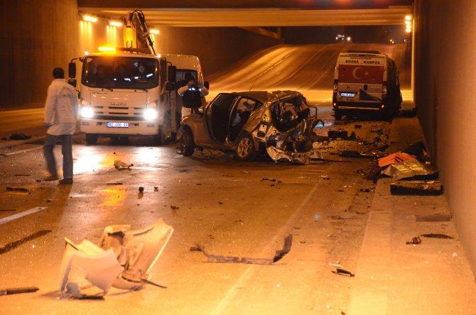 Konya'da feci kaza: 3 ölü, 1 yaralı