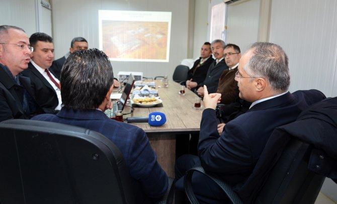 Prof. Dr. Gül ve Başkan Uludağ yeni yerleşke için bir araya geldi